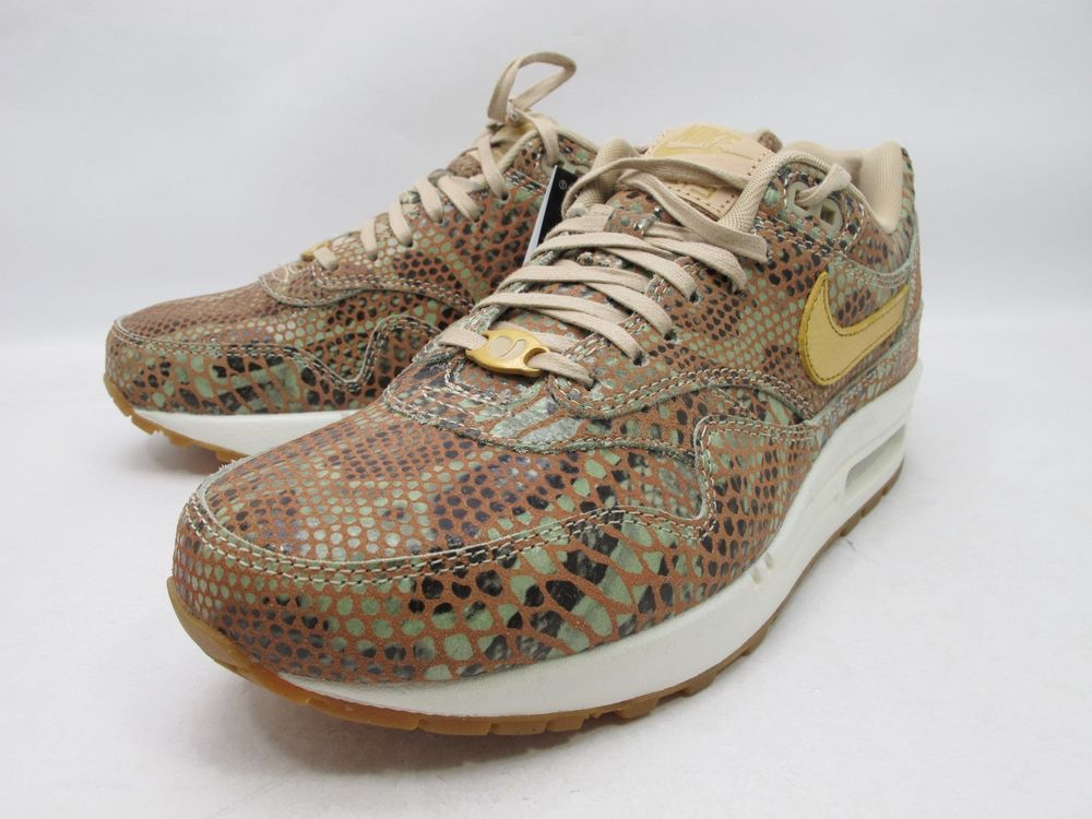DS 2013 12 Nike Wmns Air Max 1 Yots QS Linen Gold Year of The Snake 598218 200 | eBay
