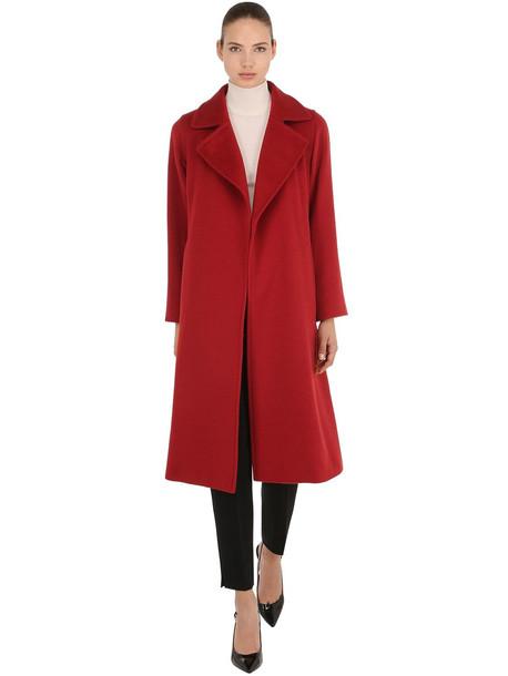 MAX MARA Manuela Camel Long Coat in red