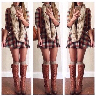 dress boots scarf bag