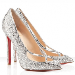 Outlet Christian Louboutin Super Vic 120mm Strass Pumps Crystal - TheWomenHeels.com