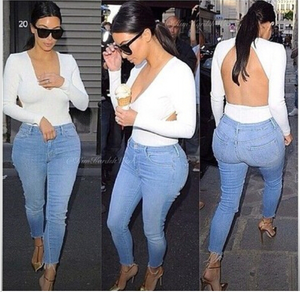Wholesale Product Snapshot Product name is HOT 2014 women summer V-neck white kim kardashian backless open back all-match solid casual spirals t shirt blouse top OM131