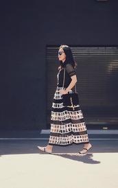 hallie daily,blogger,black top,maxi skirt,yves saint laurent bag,shoulder bag,spring outfits