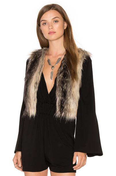 BB Dakota vest fur vest faux fur vest fur faux fur brown