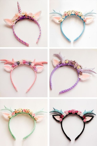 deer unicorn fairy hair accessories