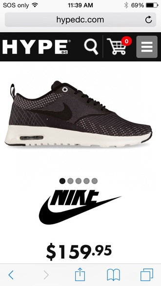 shoes nike black/grey jacqard knit