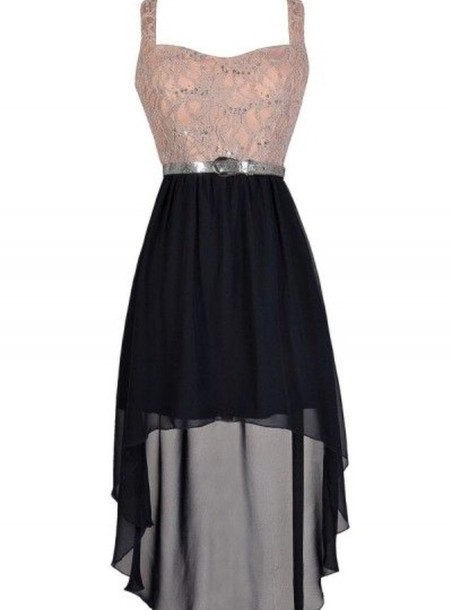 dress high low dress pink dress black dress prom dress formal dress lace dress black chiffon