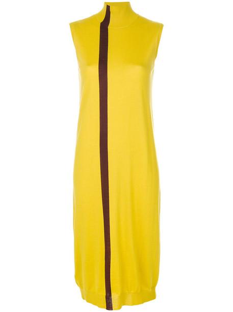 MARNI dress sweater dress sleeveless women wool yellow orange