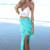 Blue Wrap Skirt - Blue Tye-Dye Twist Skirt | UsTrendy