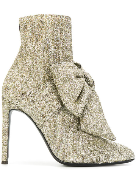 GIUSEPPE ZANOTTI DESIGN women booties leather grey metallic shoes