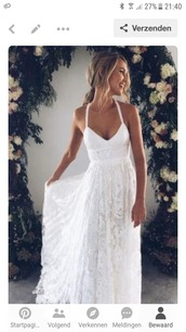 dress,white dress,beach dress,white,lace dress,evening dress,prom dress
