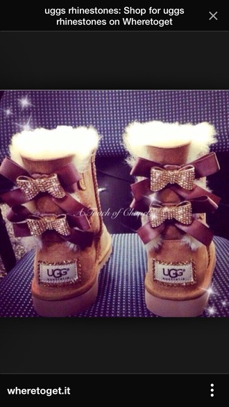 ugg boots bailey bow rhinestone