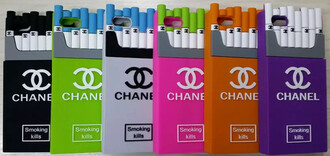 phone cover chanel cigarettes stylish colorful smoking kills