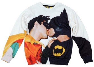 sweater sweatshirt print printed sweater streetwear streetstyle urban crewneck batman gay pride