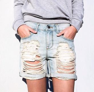 denim destructed hot jeans womens vintage bf boyfriend jeans la denim california roll cuff shorts oversized