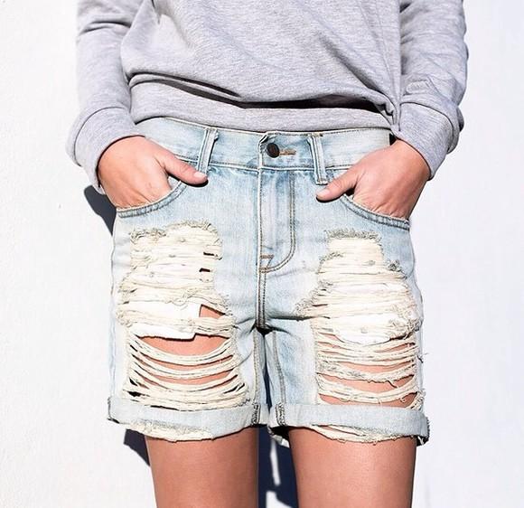 vintage jeans hot denim destructed womens bf boyfriend boyfriend jeans la denim california roll cuff shorts oversized