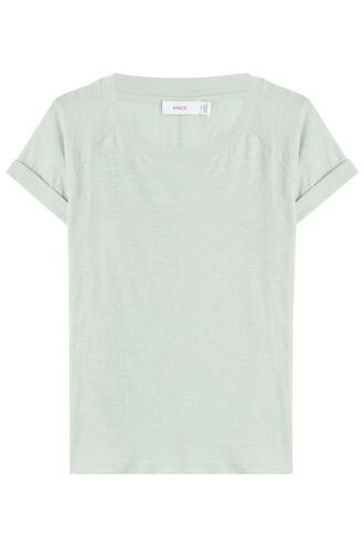 t-shirt shirt cotton t-shirt cotton turquoise top