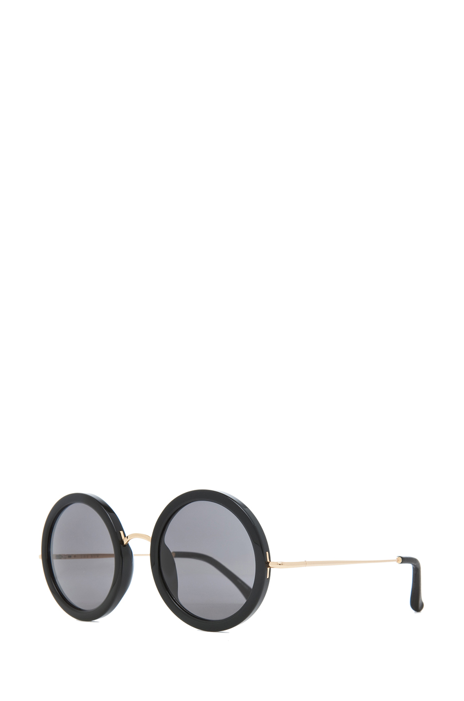 The Row|Signature Round Sunglasses in Black