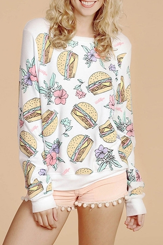 sweater zaful hamburger dope swag streetwear streetstyle