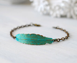 jewels hipster cool gorgeous feathers