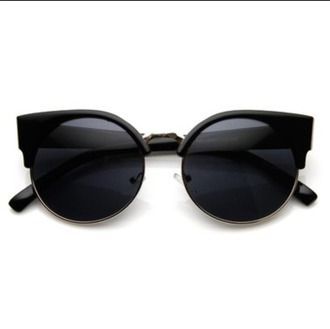 sunglasses glasses cat eye black black cat eye black cat eye sunglasses round sunglasses