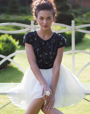 Lipsy v i p pleated skirt built up prom dress