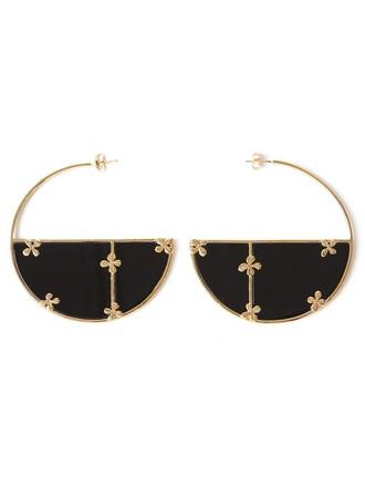earrings hoop earrings black jewels