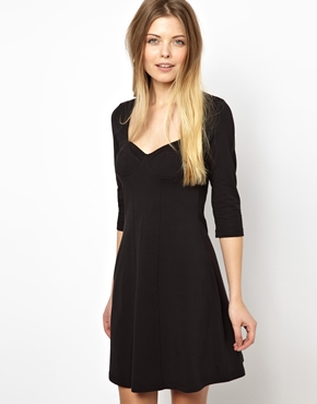 ASOS | ASOS 90'S Skater Dress With Cup Detail at ASOS