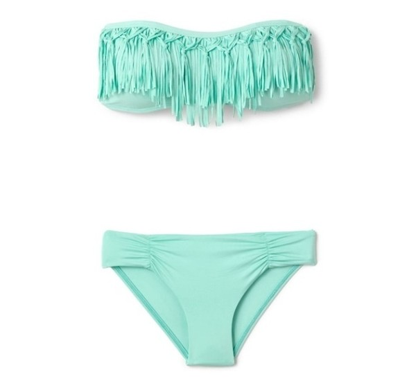 swimwear swimwear sexy fringe bikini neon swimsuit hipster hipster hippie cute summer bikini l space knotted fringe fringe swimwear elite fashion swimwear blue swimwear fringe bikini bandeau bikini teal mint swimwear fringes fashion style perfecto two-piece