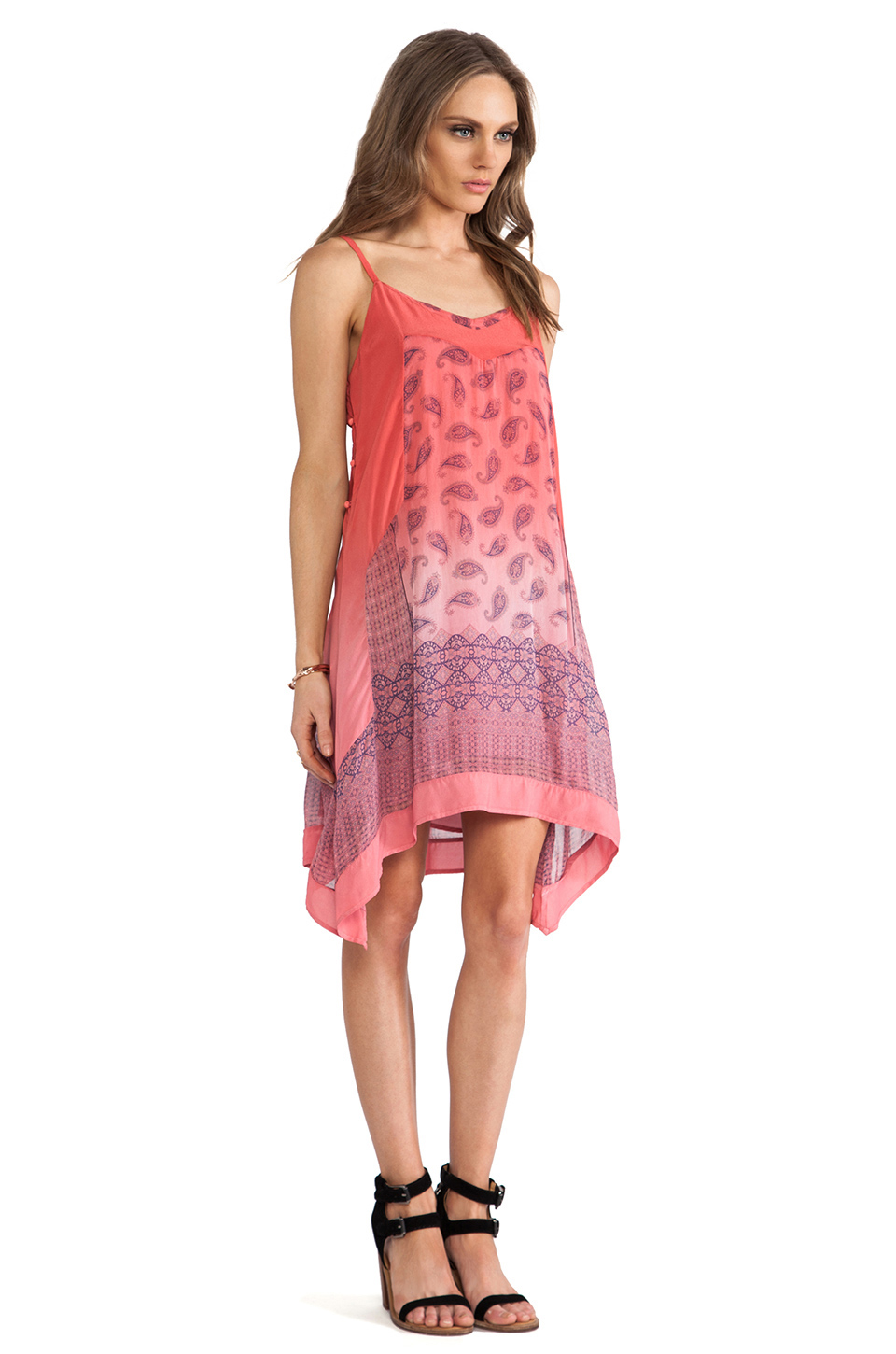 Gypsy 05 printed chiffon dress in bubble gum from revolveclothing.com