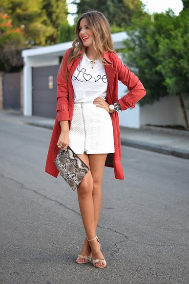 t-shirt white t-shirt mi aventura con la moda blogger bag trench coat