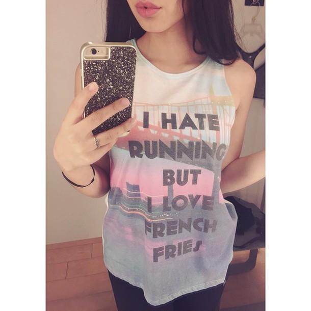 shirt colorful sayings workout shirt