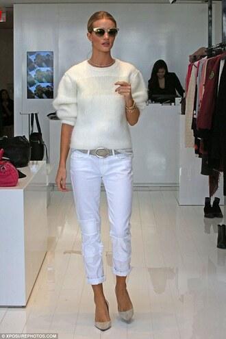 sweater shoes pants rosie huntington-whiteley
