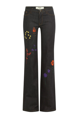 jeans embroidered blue