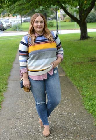 mommyinheels blogger sweater top jeans shoes bag