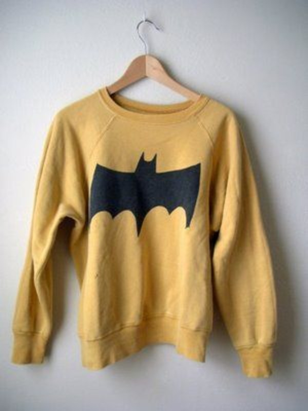 sweater batman yellow mustard sweater