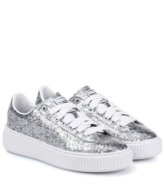 glitter sneakers silver shoes