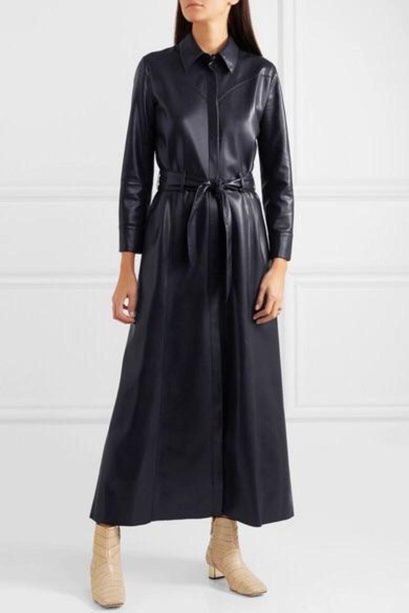 Nanushka Vegan Leather Maxi Dress on Garmentory