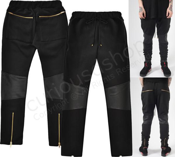 scarf pants zip drawstring sweatpants gold