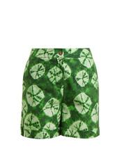 shorts,tie dye,cotton,print,green