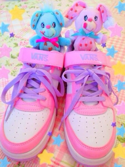 cute pink shoes vans pastel hot pink kawaii petite adorable lolita sweet lolita sweet