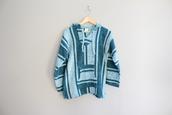 top,blue baja,baja hoodie,mexico baja,surfing wear,drug rug,mexican sweater