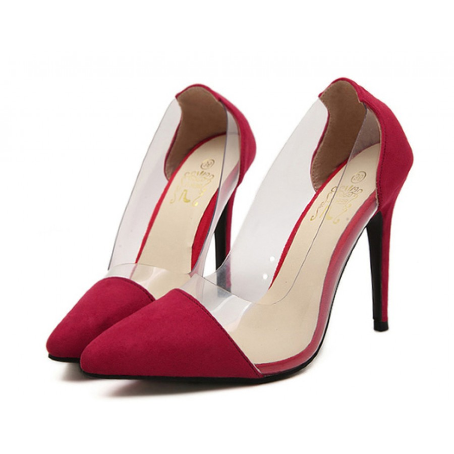 Red High Heel Court Shoes