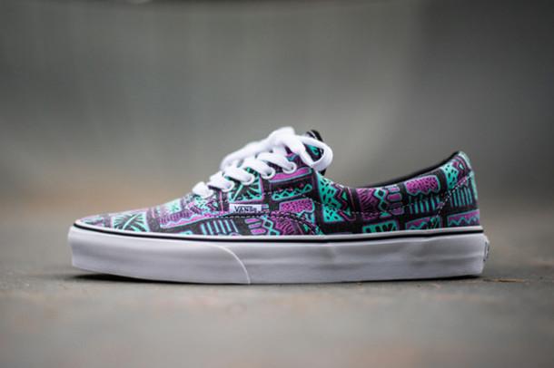 shoes, vans, purple, green, cool, shoes