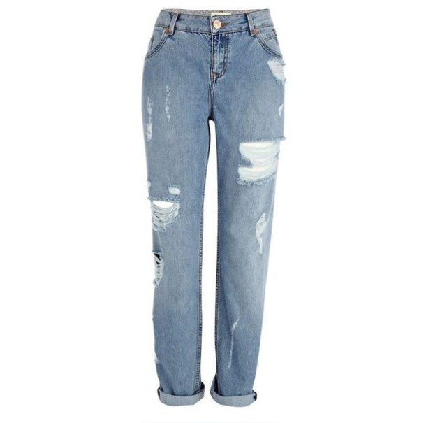 Jeans ripped jeans boyfriend jeans dope indie hipster hole jeans high waisted jeans ...