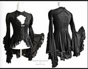 blouse,black blouse,victorian