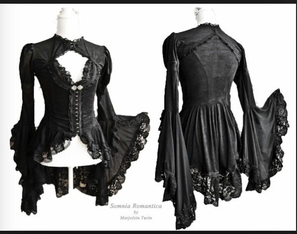 blouse black blouse victorian