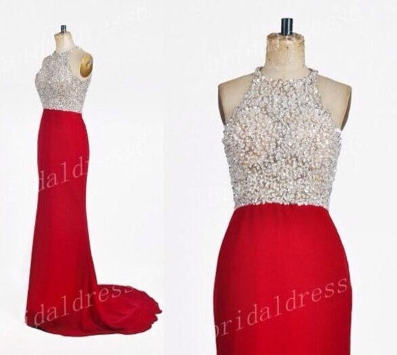dress red dress beautiful prom dress