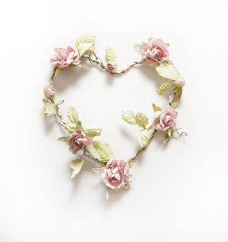 home accessory garland wedding heart cute decoration home decor rose pink leaves nature girly kids room hipster wedding