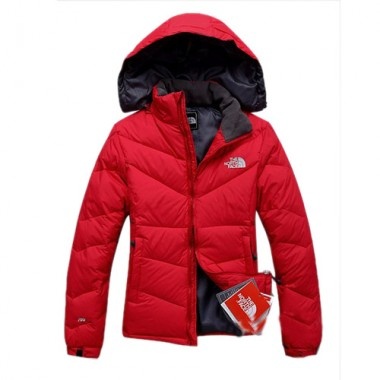 Womens North Face Red Down Jacket For Winter Bj130051