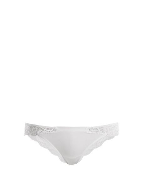 LA PERLA lace cotton white underwear